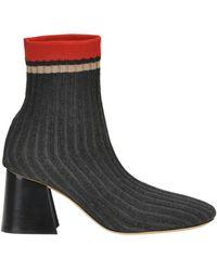 Céline - Women's Grey Fabric Heels - Lyst