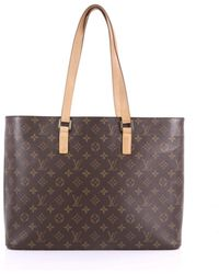 dbbf099e6669 Lyst - Louis Vuitton Pre Owned Riveting Handbag Monogram Canvas in Brown