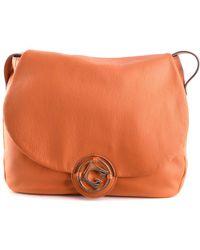 Gherardini - Women's Orange Leather Shoulder Bag - Lyst