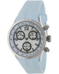 Nautica - Women's Sport A17537l Blue Resin Quartz Fashion Watch - Lyst