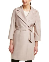 Cinzia Rocca - Icons Belted Wool-blend Coat - Lyst