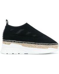 KENZO - Women's Black Polyamide Slip On Sneakers - Lyst