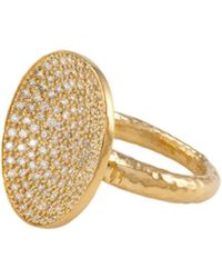 Melinda Maria - 14k Plated Cz Cocktail Ring - Lyst