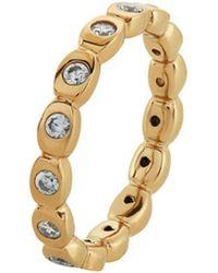 Melinda Maria - 14k Plated Cz Ring - Lyst