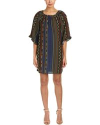 She + Sky - Printed Shift Dress - Lyst