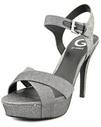 G by Guess - Womens Cenikka Open Toe Ankle Strap Platform Court Shoes - Lyst