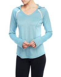 NYDJ - Hooded Athletic Pullover - Lyst