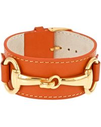 Fornash - Belmont Plated & Leather Bangle - Lyst