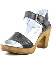 Eric Michael - Dallas Women Open Toe Leather Platform Sandal - Lyst