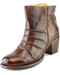 Bed Stu - Arcane Round Toe Leather Ankle Boot - Lyst