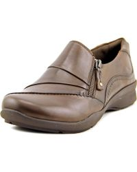 Earth - Anise Women Round Toe Leather Brown Loafer - Lyst