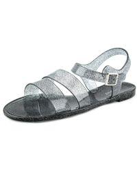 Bamboo | Shimmery-01 Women Open-toe Synthetic Slingback Sandal | Lyst