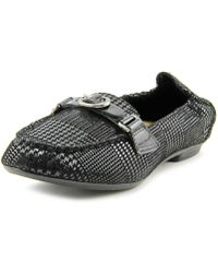Earth - Scout Women Round Toe Leather Black Loafer - Lyst
