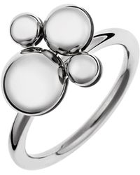 Calvin Klein - Women's Liquid Stainless Steel Ring Rotating Charm Size 7 - Lyst