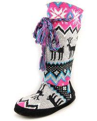 Muk Luks - Blissful Women Round Toe Synthetic Multi Colour Winter Boot - Lyst