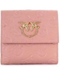 Pinko - Women's Pink Leather Wallet - Lyst