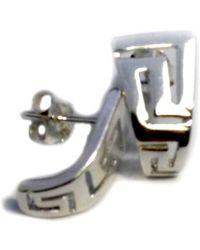 JewelryAffairs | Sterling Silver Rhodium Plated Ancient Greek Key Stud Earrings | Lyst
