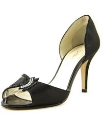 Caparros - Muriel Open-toe Canvas Heels - Lyst