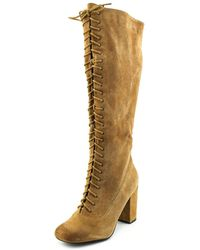 Mojo Moxy - Stevie Women Round Toe Suede Knee High Boot - Lyst