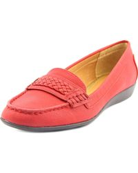 American Living - Ulyssa Moc Toe Synthetic Loafer - Lyst