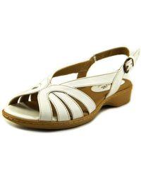 de9adce98fe9 Softspots - Haley N s Open-toe Leather Slingback Sandal - Lyst