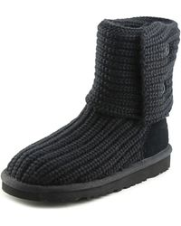 UGG - Classic Cardy Women N Round Toe Canvas Winter Boot - Lyst