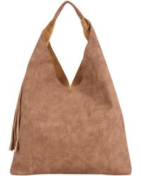 Inzi - Perforated Hobo Bag With Long Tassel - Lyst