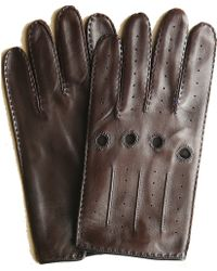Hickey Freeman - Italian Nappa Leather Unlined Driving Glove With Contrast Piping And Stitching - Lyst