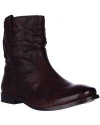 Frye - Anna Shortie Flat Boots - Dark Brown - Lyst