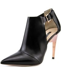 Ruthie Davis - Isabelle Women Pointed Toe Leather Ankle Boot - Lyst