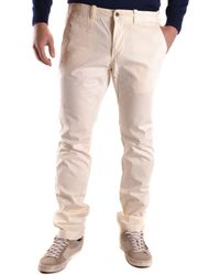 GANT - Men's Beige/brown Cotton Pants - Lyst