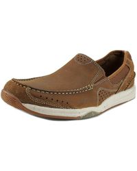 Clarks - Allston Free Round Toe Leather Walking Shoe - Lyst