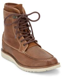 Lucky Brand - Mens Munford Leather Rugged Boot - Lyst