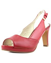Blondo - Velvet Peep-toe Leather Heels - Lyst