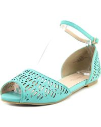 Restricted - Carry Out Women Peep-toe Leather Flats - Lyst
