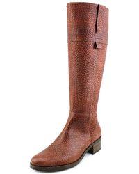 Fidji - Ele Round Toe Leather Mid Calf Boot - Lyst