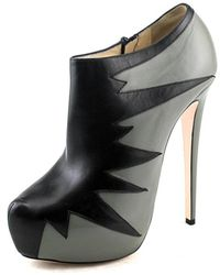 Ruthie Davis - Whitney Women Pointed Toe Leather Bootie - Lyst