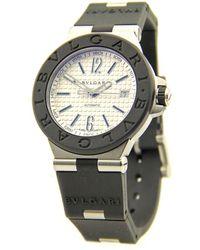 shop men s bvlgari watches from 2280 lyst bvlgari diagono stainless steel silver men watch lyst