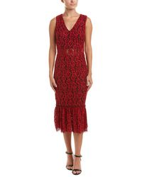 Alexia Admor - Sheer Floral Lace Midi Dress - Lyst
