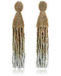 Oscar de la Renta - Women's Gold Other Materials Earrings - Lyst