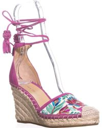 Ivanka Trump - Wadia3 Espadrille Wedge Sandals, White Multi - Lyst