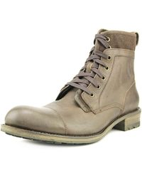 John Varvatos - Lincoln Tahoe Steel Toe Leather Work Boot - Lyst