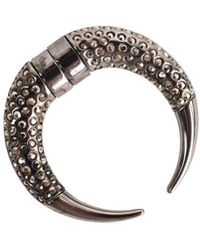 Givenchy - Silver Plated Swarovski Crystal Single Horn Magnetic Earring - Lyst
