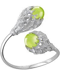 Baccarat | Merveille Silver Crystal Cuff Bracelet | Lyst