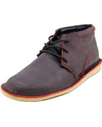 Oliberte - Adibo Men Round Toe Leather Burgundy Boot - Lyst
