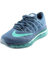 Nike - Air Max 2016 Women Round Toe Synthetic Blue Running Shoe - Lyst