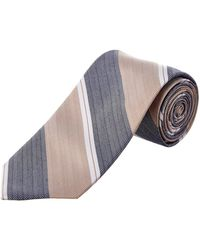 Cole Haan - Taupe Moby Stripe Silk-blend Tie - Lyst