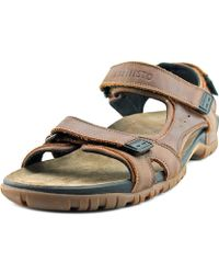 Mephisto - Brice Men Open-toe Leather Brown Sport Sandal - Lyst