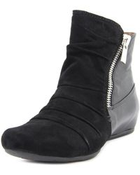 Earthies - Pino Round Toe Leather Ankle Boot - Lyst