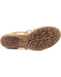 Earth - Bluff Women Open Toe Leather Brown Sandals - Lyst